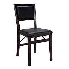 Linon Home Karen Pad Back Folding Chair - Brown