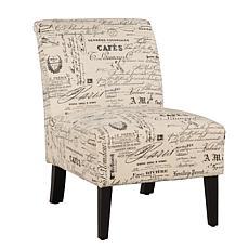 Linon Home Karen Script Linen Chair - Beige