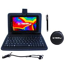 """LINSAY 7"""" 16GB Android 10 Tablet with Keyboard Case"""