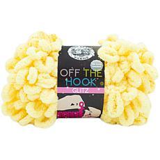 Lion Brand Off The Hook Glitz Yarn - Banana