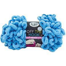 Lion Brand Off The Hook Glitz Yarn - Sky Blue