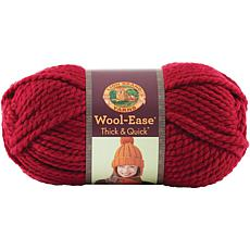 Lion Brand Thick-and-Quick Yarn - Cranberry Solid