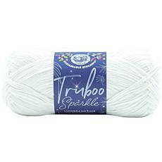 Lion Brand Truboo Sparkle Yarn - Ice