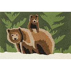 "Liora Manne Frontporch Bear Family - Forest - 20"" x 30"""