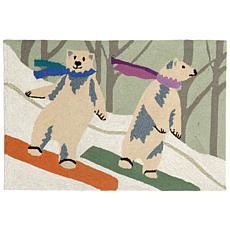 Liora Manne Frontporch Boarding Bears - Snow