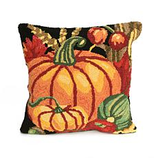 "Liora Manne Frontporch Pumpkin 18"" Square Pillow"