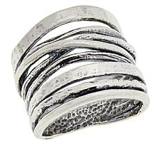 LiPaz Sterling Silver Crossover Band Ring