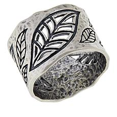 LiPaz Sterling Silver Cut-Out Leaves Band Ring