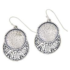 LiPaz Sterling Silver Hammered Disc Cut-Out Earrings