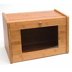 Lipper Bamboo Bread Box with Acrylic Window