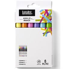 Liquitex Professional Fine Vibrant Paint Marker Set of 6