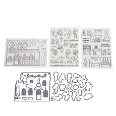 Little Darlings Create-A-Scene Holiday Cheer Stamp & Die Set