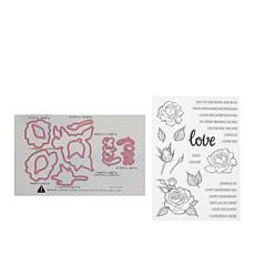 Little Darlings Love Blooms Stamp and Die Set