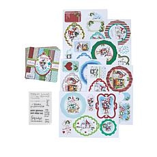 Little Darlings Polkadoodles Christmas Gnomes Cardmaking Kit