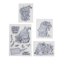 Little Darlings Polkadoodles Christmas Gnomes Stamps - Snow Place