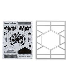 Little Darlings Puzzled Hexagon Stamp and Die Set