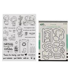 Little Darlings Sharing is Caring Build-A- Scene Stamp & Die Set