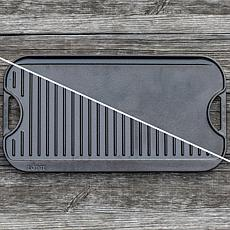 """Lodge 20"""" x 10.5"""" Cast Iron Reversible Grill/Griddle"""