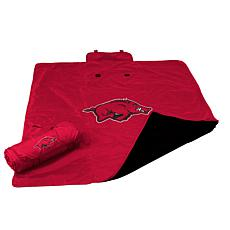 Logo Chair All Weather Blanket - University of Arkansas