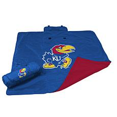 Logo Chair All-Weather Blanket - University of Kansas