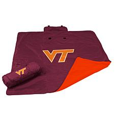Logo Chair All Weather Blanket - Virginia Tech Un.