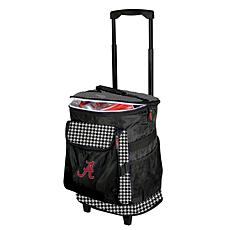 Logo Chair Houndstooth Rolling Cooler - Un. of Alabama