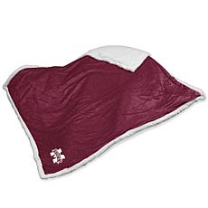 Logo Chair Sherpa Throw - Mississippi State