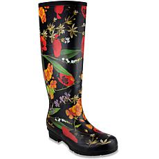 London Fog® TOTTY Pull-On Floral Print Tall Rain Boot