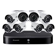 Lorex 4K UHD 16-Channel Security System w/2TB DVR & 8 UHD Cameras