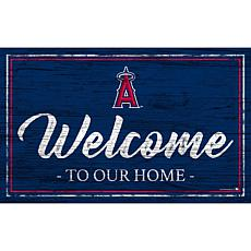 """Los Angeles Angels Team Color Welcome Sign - 11x19"""""""