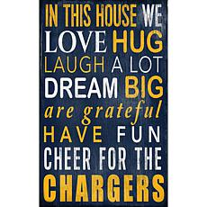 Los Angeles Chargers In This House Sign