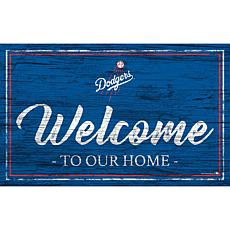 """Los Angeles Dodgers Team Color Welcome Sign - 11x19"""""""