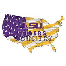 Louisiana State University USA Shape Flag Cutout