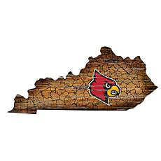 Louisville Distressed State with Logo