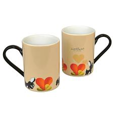 Lover by Lover 10 oz. Coffee Mug Set of 2 - Beige