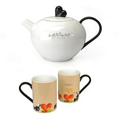 Lover by Lover 3-piece Porcelain Coffee Set