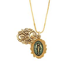 Luca + Danni Miraculous Locket Adjustable Pendant Necklace