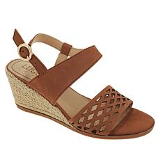 Lucca Lane Haldene Leather Wedge Sandal