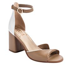 Lucca Lane Ileah Leather Colorblocked Dress Sandal