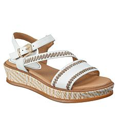 Lucca Lane Kassy Leather Flatform Sandal