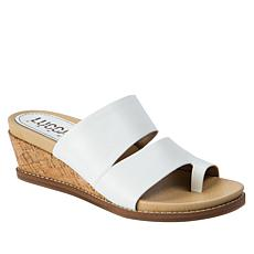 Lucca Lane Whitley Leather Wedge Sandal