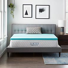 "LUCID Comfort Collection 2"" Gel Memory Foam Mattress Topper - King"