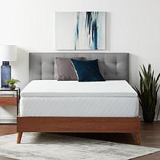 """Lucid Comfort Collection 2"""" Gel Memory Foam Topper with Cover, Queen"""