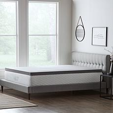 """LUCID Comfort Collection 3"""" Bamboo Charcoal Memory Foam Topper - Full"""