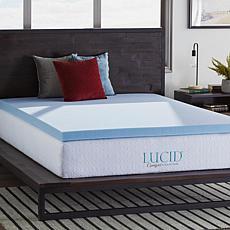 """LUCID Comfort Collection 3"""" Gel Memory Foam Mattress Topper - Twin XL"""
