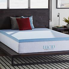 "LUCID Comfort Collection 3"" Gel Memory Foam Mattress Topper - Twin XL"
