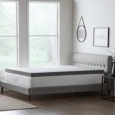 """LUCID Comfort Collection 4"""" Bamboo Charcoal Memory Foam Topper - Queen"""