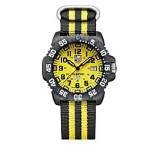 "Luminox ""Scott Cassell"" Yellow and Black Watch Set"