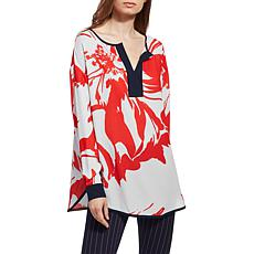 LYSSE Marina Long-Sleeve Printed Top