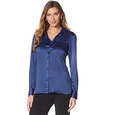 LYSSE Satin Brinkley Shirt - Missy